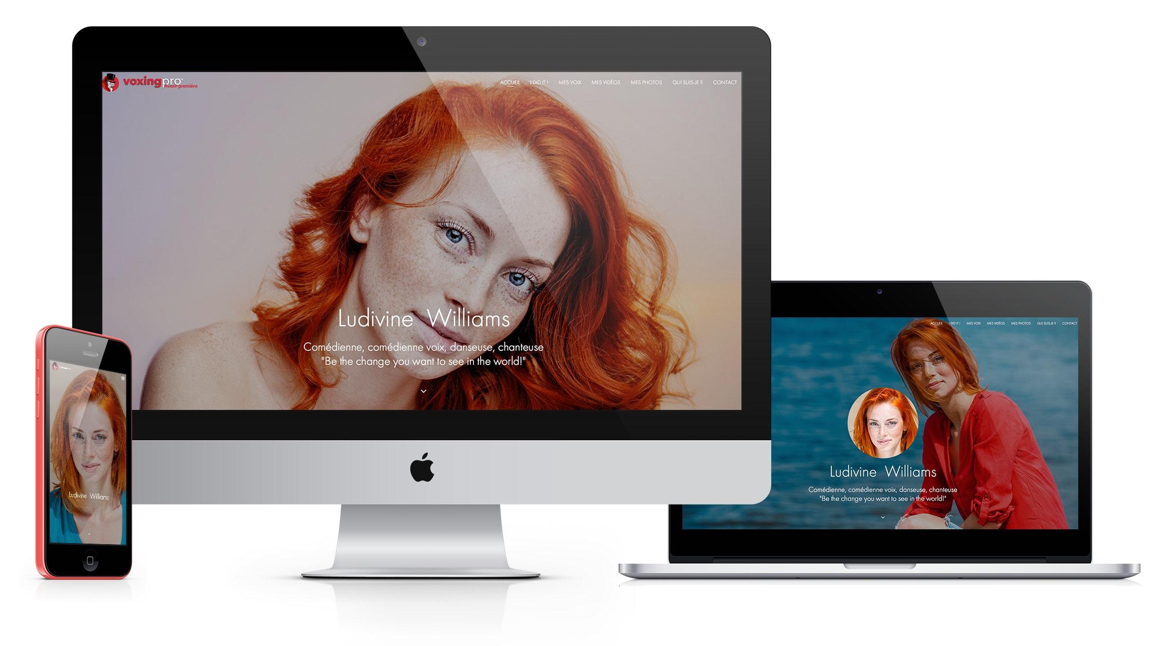 Captures d'écran promotionnels pour ordinateur tablette et mobile